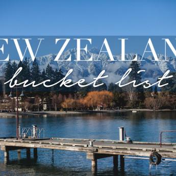 New Zealand Bucket List