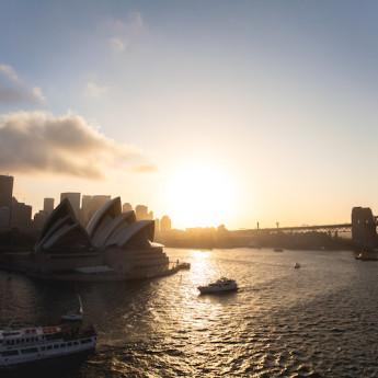 Cruising Sydney Harbor