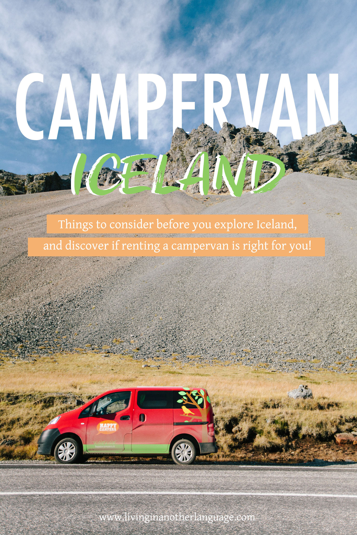 campervan iceland with happy campers - living in another language